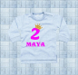 Mobile Preview: Baby Sweat-Shirt 2. Geburtstag