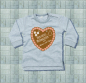 Mobile Preview: Baby Sweat-Shirt Herz Mama und Papa