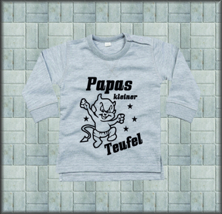 Baby Sweat-Shirt Papas Teufel