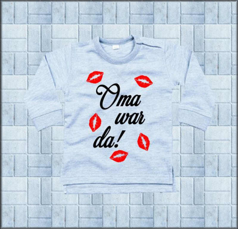 Baby Sweat-Shirt Oma war da